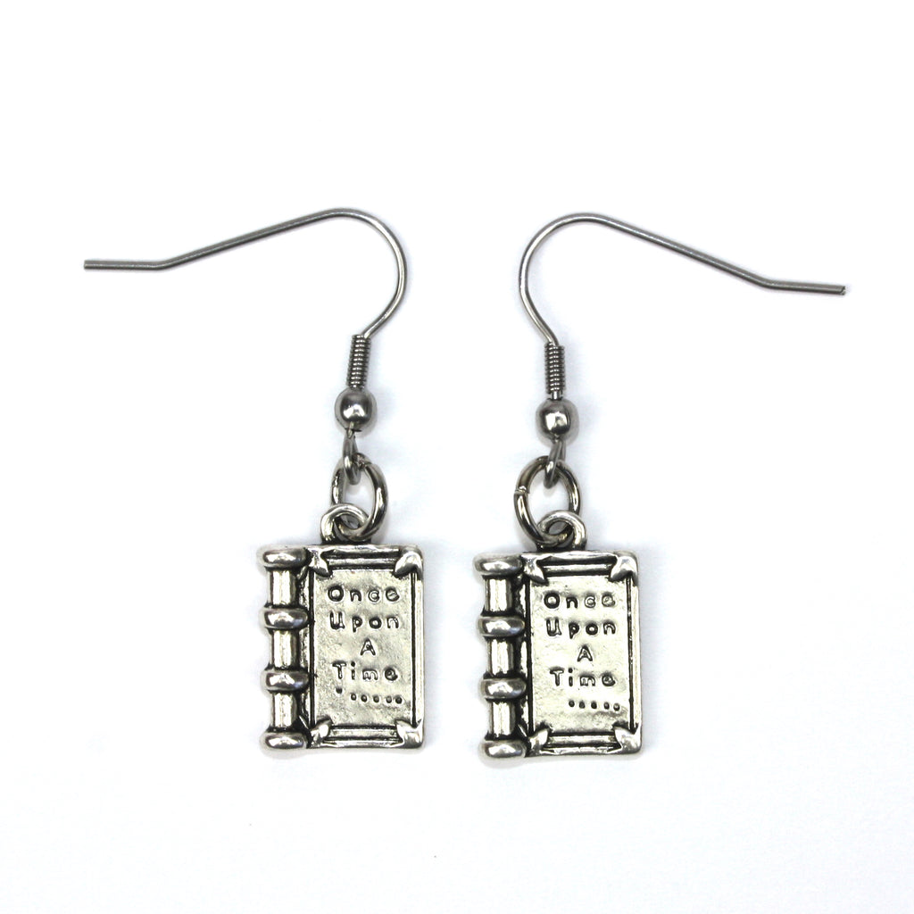 Once Upon A Time Book Earrings - Sour Cherry