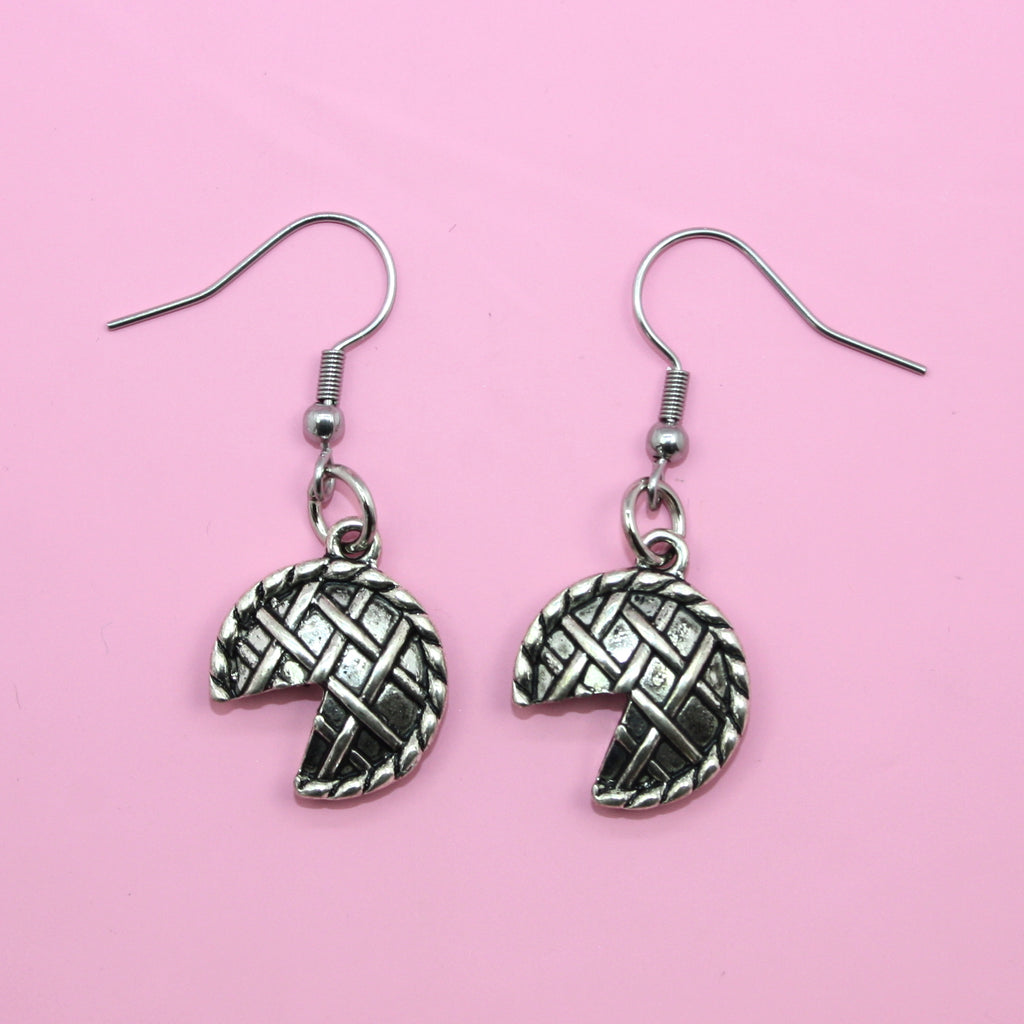 Pie Earrings - Sour Cherry