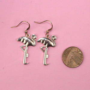 Flamingo Earrings (Rose Gold Plated) - Sour Cherry