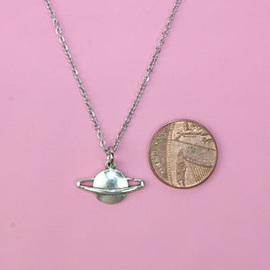 Planet Charm Necklace - Sour Cherry