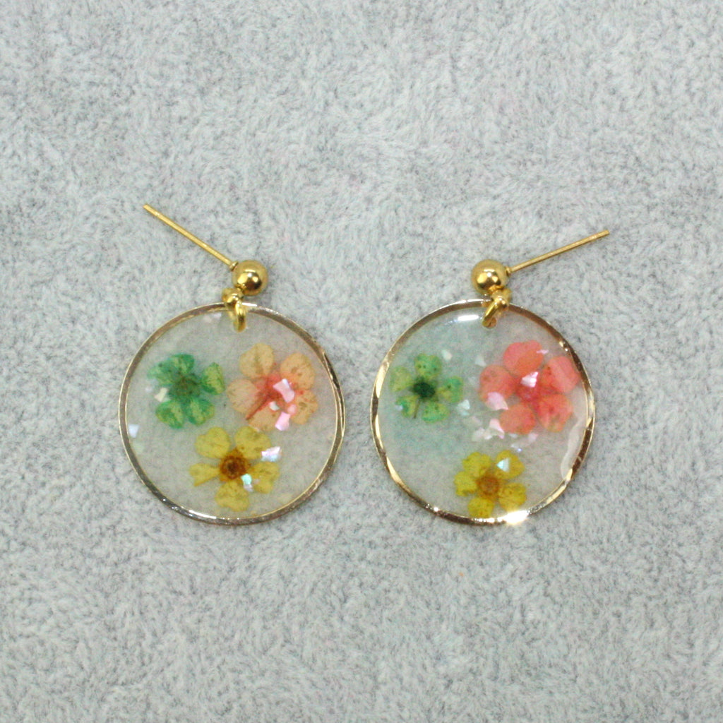 Pressed Flower Earrings - Sour Cherry
