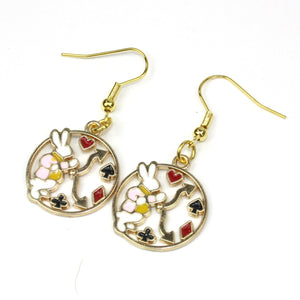Tick Tock On The Rabbit Clock Earrings