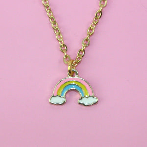 Rainbow Necklace - Sour Cherry