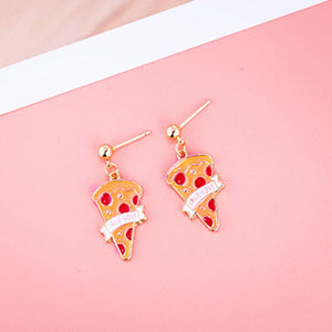 True Love Pizza Earrings - Sour Cherry