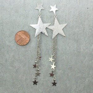 Shooting Star Drop Earrings - Sour Cherry