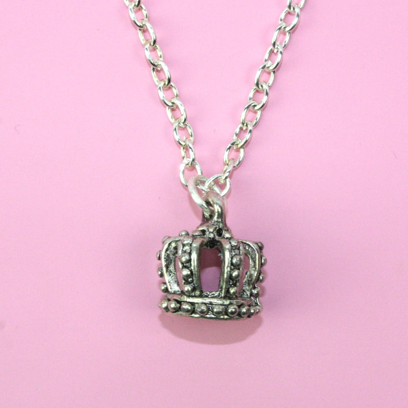 Crown Necklace (Silver Plated) - Sour Cherry
