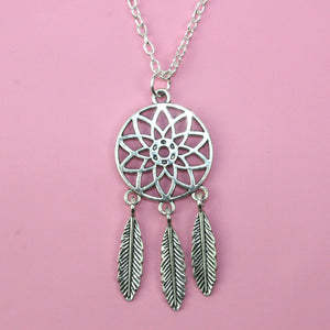 Dreamcatcher Necklace - Sour Cherry