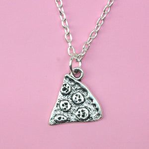 Pizza Necklace (Silver Plated) - Sour Cherry