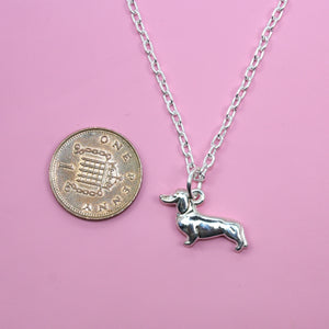 Dachshund/Sausage Dog Necklace (Silver Plated)
