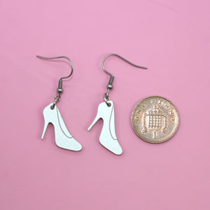 Shimmer Shoe Earrings - Sour Cherry