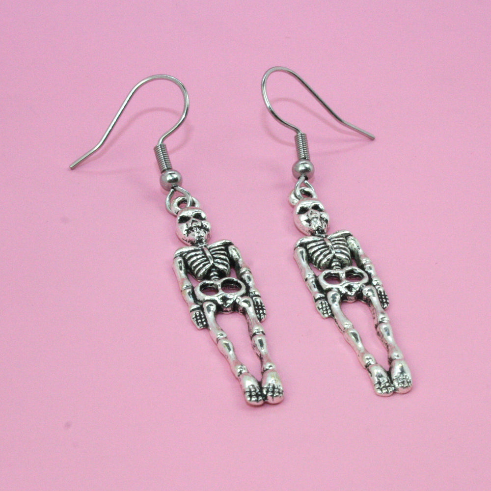 Skeleton Earrings - Sour Cherry