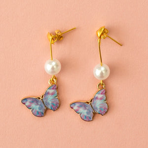 Load image into Gallery viewer, Purple Butterfly Stud Earrings - Sour Cherry
