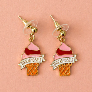 Treat Yo Self Ice Cream Earrings