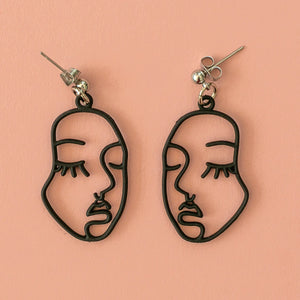Large Face Earrings - Sour Cherry