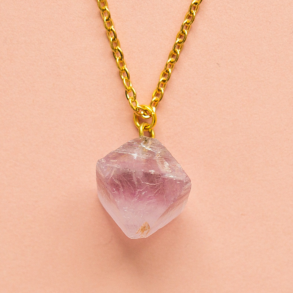 Raw Amethyst Necklace - Sour Cherry