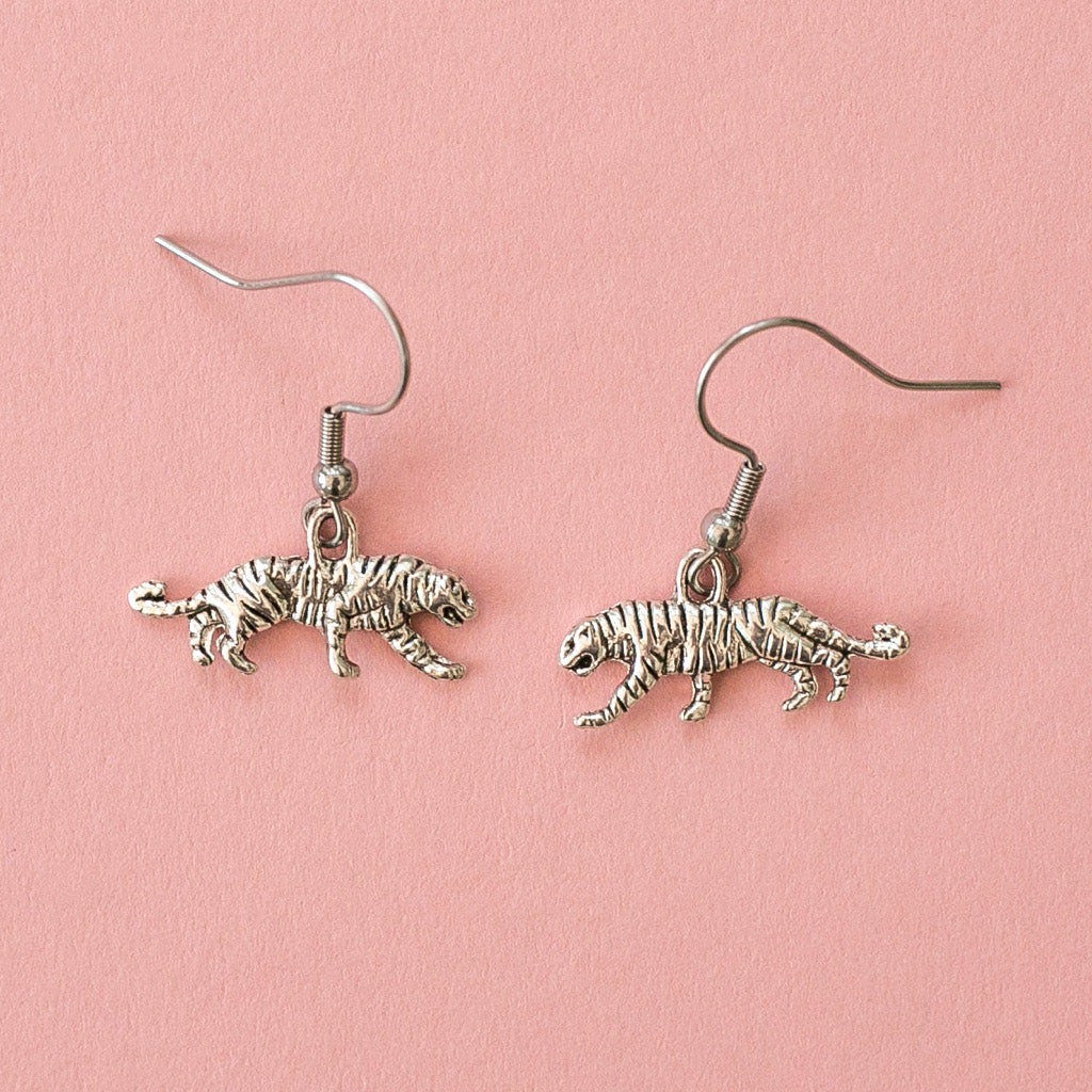 Tiger Earrings - Sour Cherry