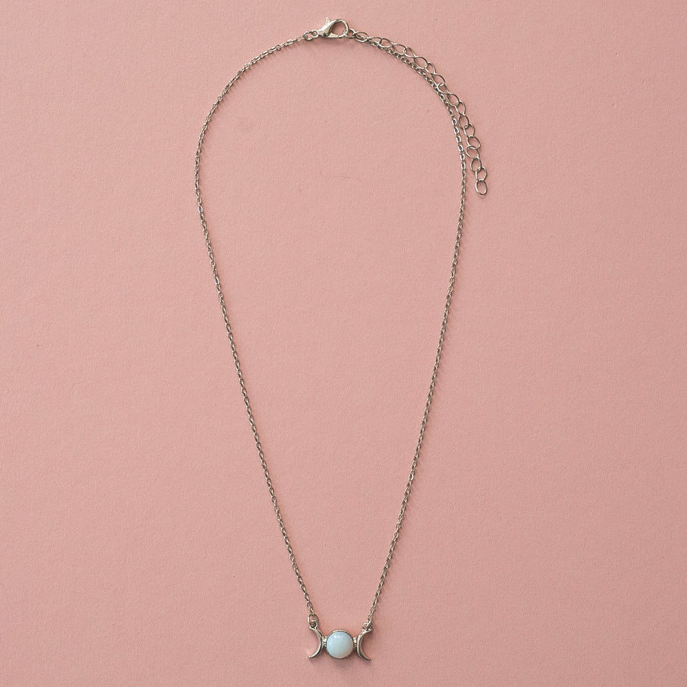 Load image into Gallery viewer, Opal Moon Necklace - Sour Cherry
