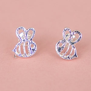 Bee Stud Earrings (Silver Plated) - Sour Cherry