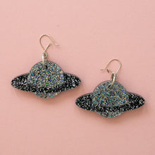 Load image into Gallery viewer, Black Planet Earrings