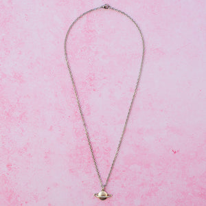 Load image into Gallery viewer, Planet Charm Necklace - Sour Cherry