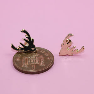Stag Stud Earrings (Gold plated) - Sour Cherry