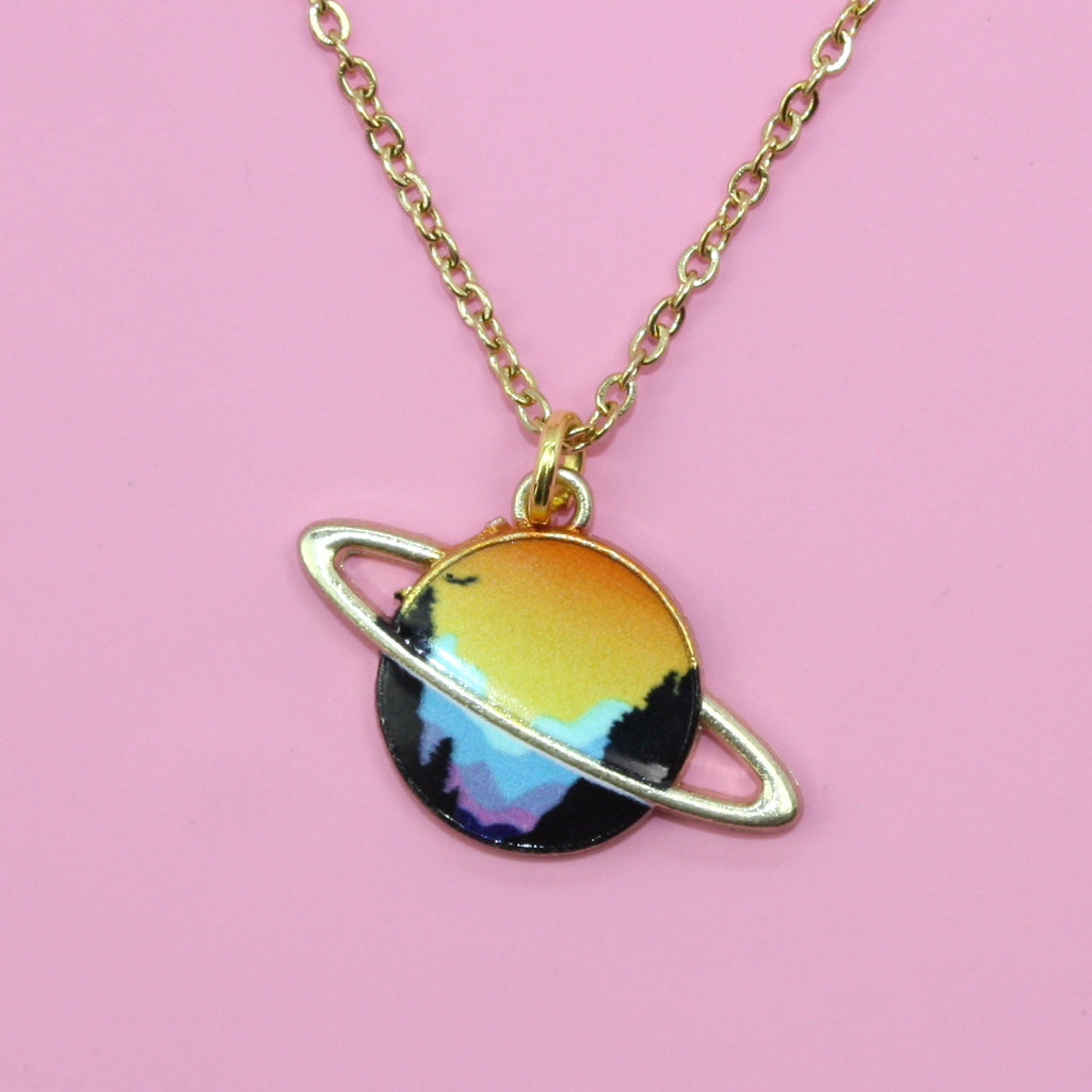 Sunrise Planet Necklace