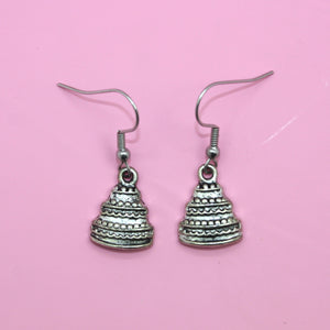 Tiered Cake Earrings - Sour Cherry