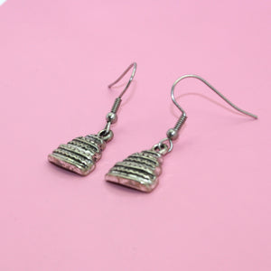 Load image into Gallery viewer, Tiered Cake Earrings - Sour Cherry