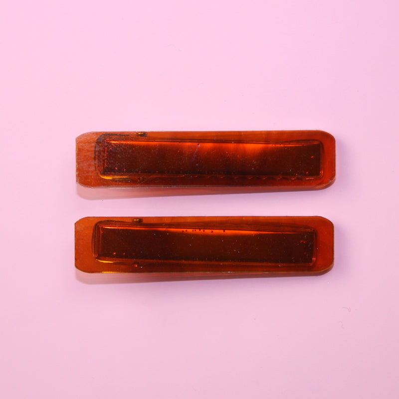 Tortoiseshell Hair Clips - Sour Cherry
