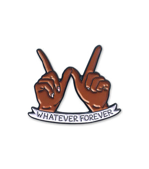 Load image into Gallery viewer, Whatever Forever Brown Enamel Pin - Sour Cherry