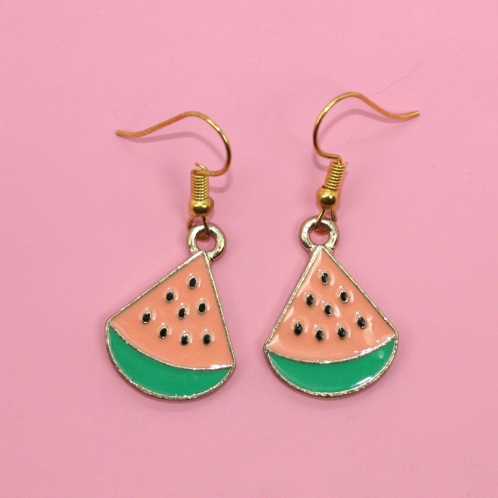 Watermelon Earrings (Gold Plated)