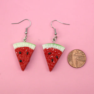 Watermelon Slice Earrings - Sour Cherry