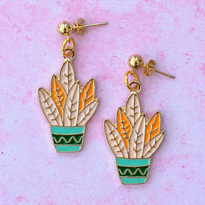 House Plant Earrings - Sour Cherry