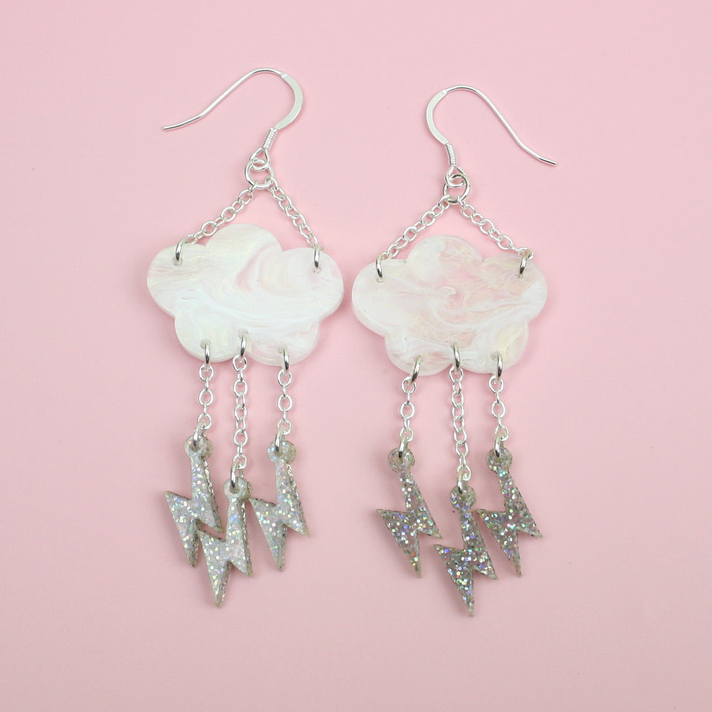 Intracloud Lightning Earrings