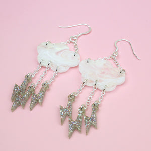 Load image into Gallery viewer, Intracloud Lightning Earrings