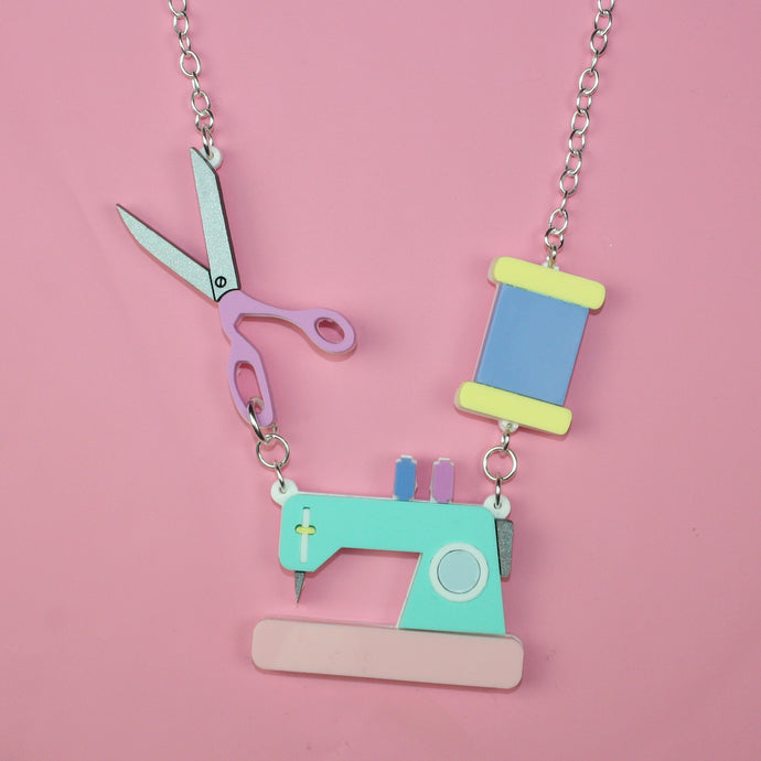 Retro Sewing Necklace