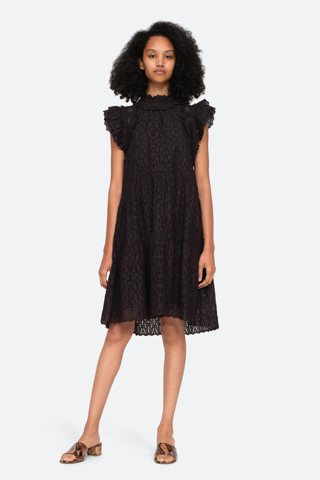 SeaNY Ingrid flutter midi dress
