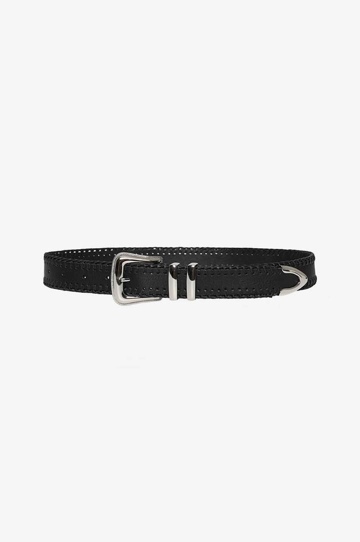 Anine Bing Western Belt in Black
