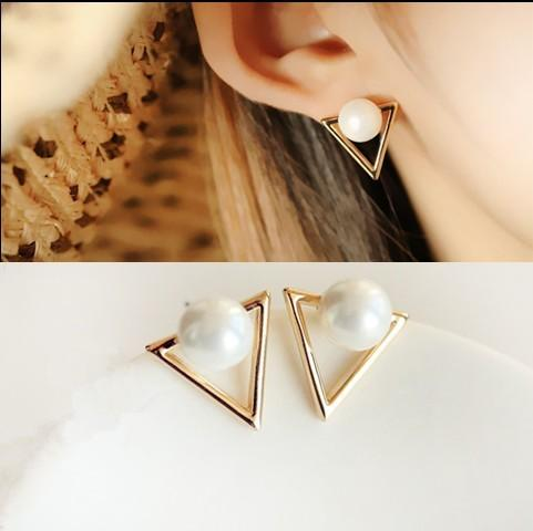 Triangle Mated Stud - Earrings