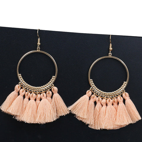 Drop Fringe Tassel Earrings