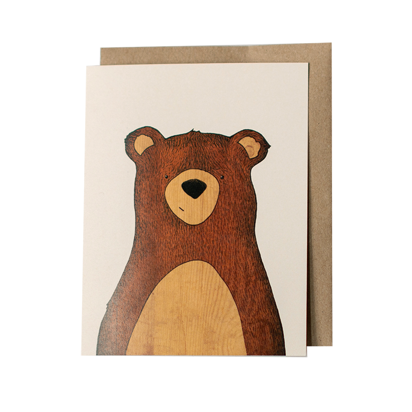 Woodland Bear Greeting Card