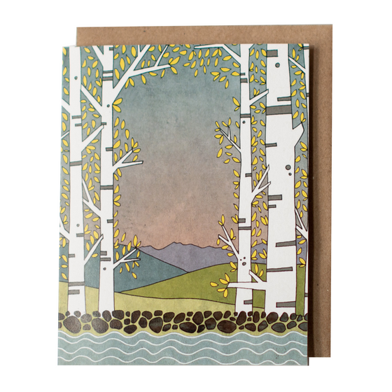 Aspen Lake Greeting Card