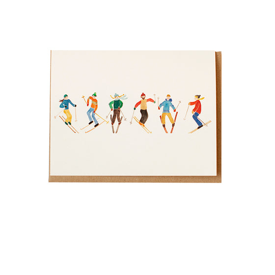 Baker Skiiers Greeting Card