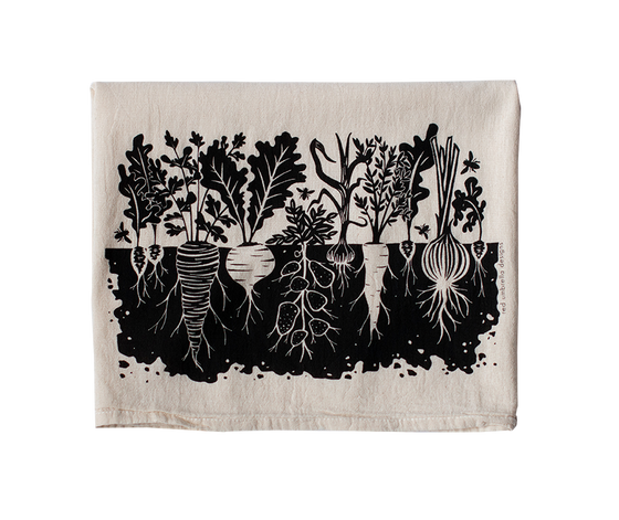 Garden Veggie Tea Towel