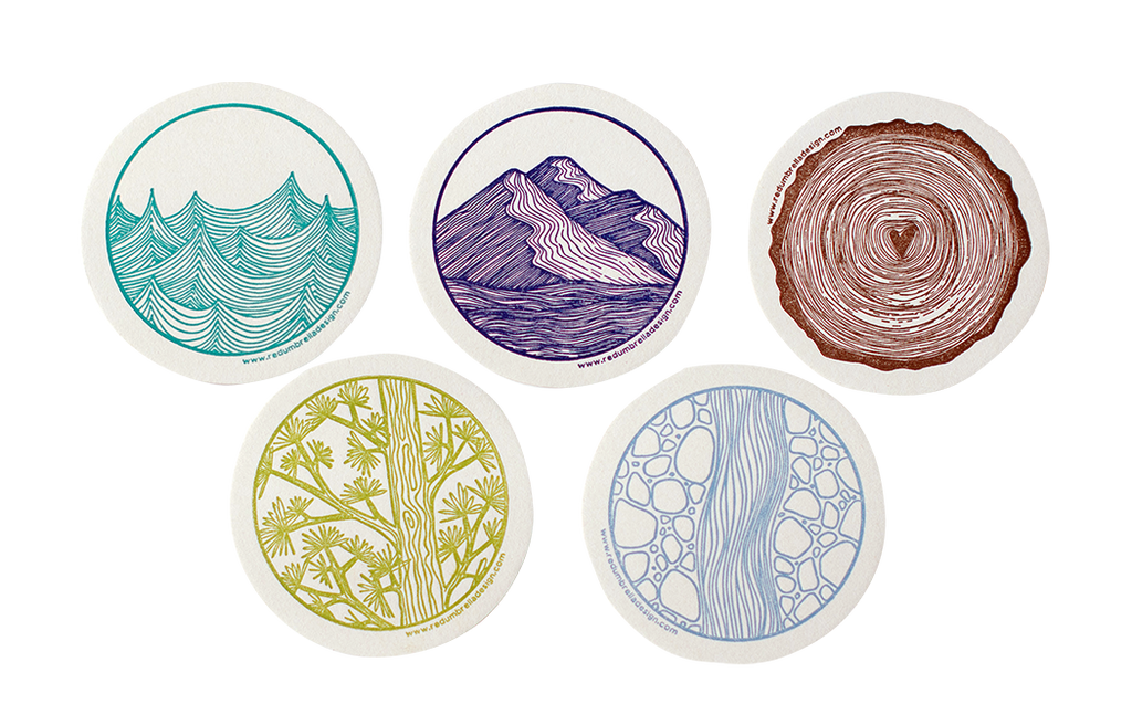 Letterpress Coaster Set