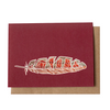 Desert Feather Greeting Card