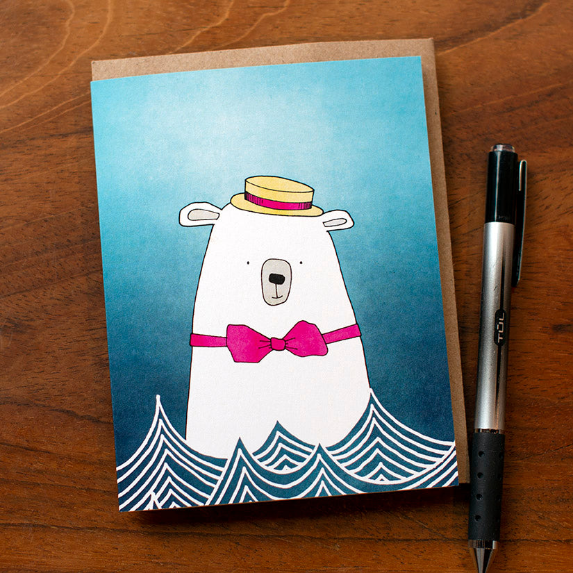 Magic Polar Bear Greeting Card