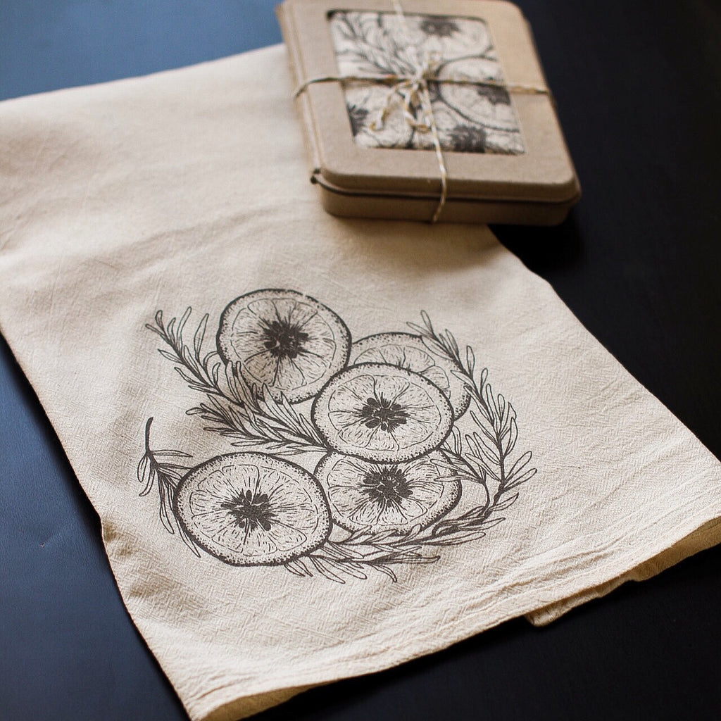 Rosemary & Lemon Tea Towel