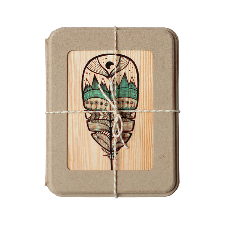 Woodgrain Boxed Set of 12 Cards