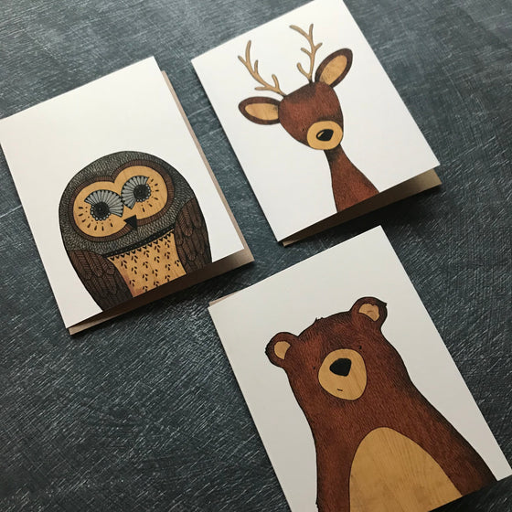 Woodland Boxed Set of 12 Cards
